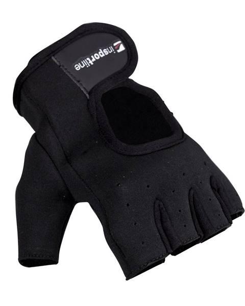 Insportline Neoprenové fitness rukavice inSPORTline Aktenvero čierna - S