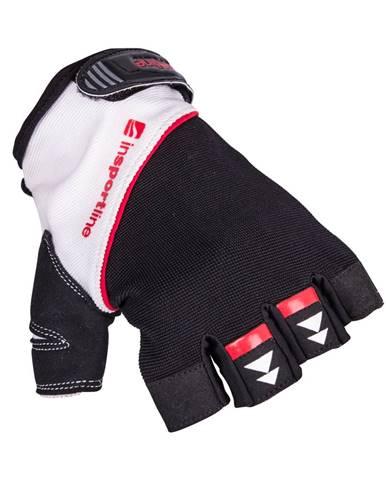 Fitness rukavice inSPORTline Harjot čierno-biela - S