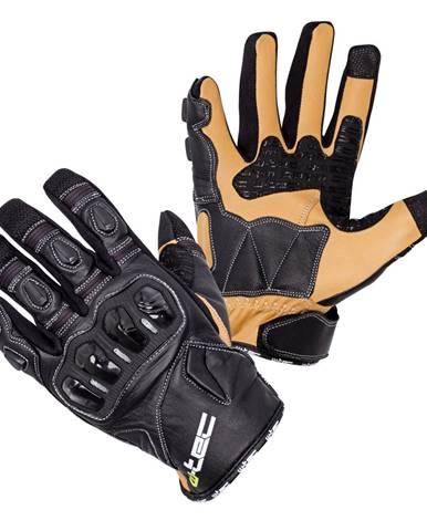 Kožené moto rukavice W-TEC Flanker B-6035 čierna - S