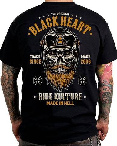 Tričko BLACK HEART Whiskery čierna - M