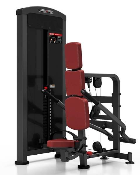 MARBO Posilňovací stroj - triceps so závažím Marbo Sport MP-U233 červená