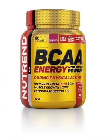 Energetická zmes Nutrend BCAA Energy Mega Strong Powder 500g malina
