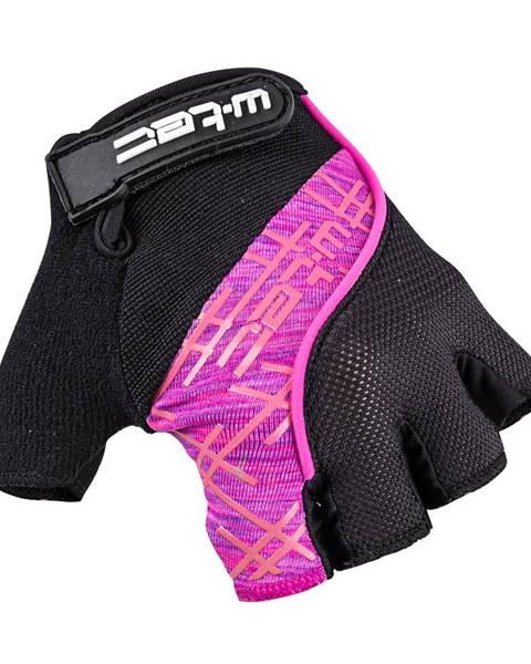 W-Tec Cyklo rukavice W-TEC Karolea čierno-fialovo-ružová - XS