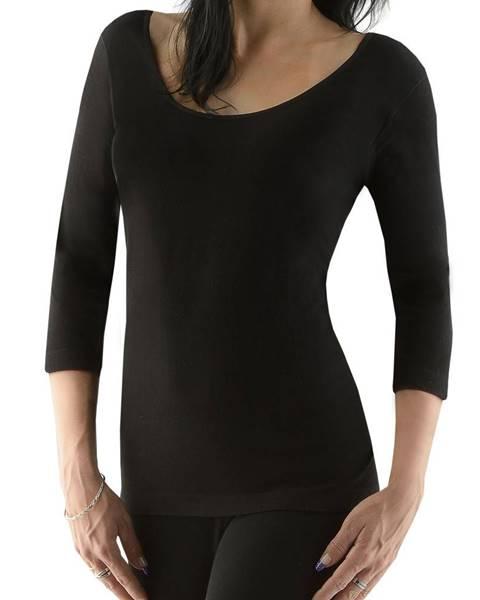 EcoBamboo Dámske tričko s 3/4 rukávom EcoBamboo čierna - S/M