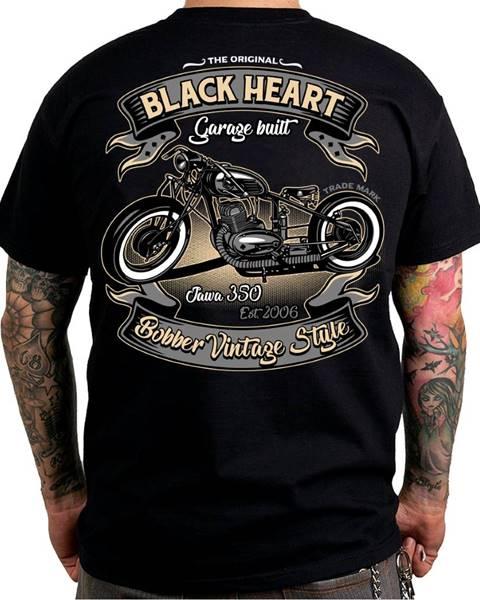 BLACKHEART Tričko BLACK HEART Bobber 350 čierna - M