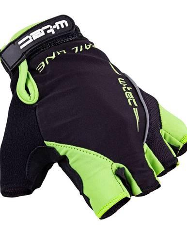 Cyklo rukavice W-TEC Kauzality čierno-zelená - S