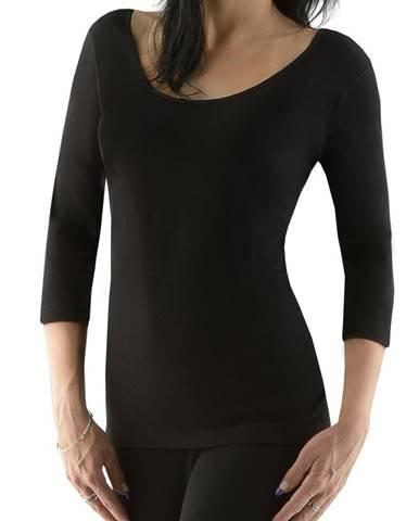 Dámske tričko s 3/4 rukávom EcoBamboo čierna - S/M