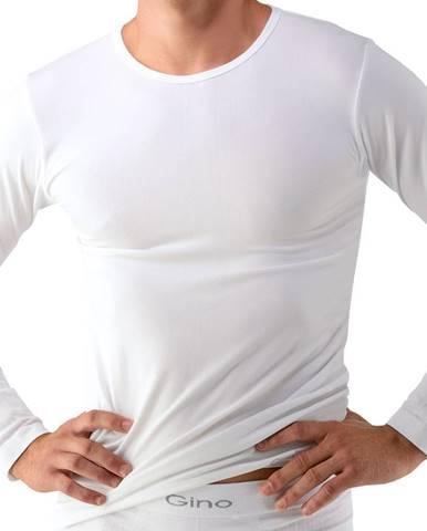 Unisex tričko s dlhým rukávom EcoBamboo biela - S/M