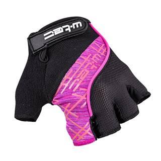 Cyklo rukavice W-TEC Karolea čierno-fialovo-ružová - XS