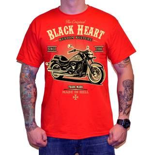 Tričko BLACK HEART Harley Red červená - M
