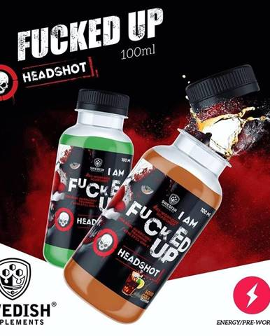 Fucked Up Headshot - Swedish Supplements 12 x 100 ml. Green Apple