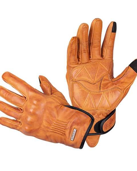 W-Tec Kožené moto rukavice W-TEC Dahmer svetlo hnedá - S