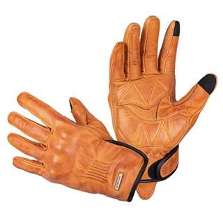 Kožené moto rukavice W-TEC Dahmer svetlo hnedá - S
