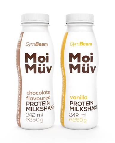 GymBeam MoiMüv Protein Milkshake 242 ml čokoláda