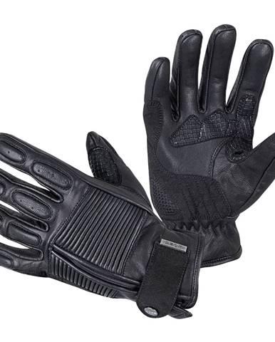 Kožené moto rukavice W-TEC Mareff čierna - S