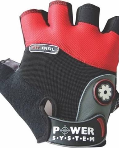 Power System Fitness rukavice Fit Girl červené variant: M