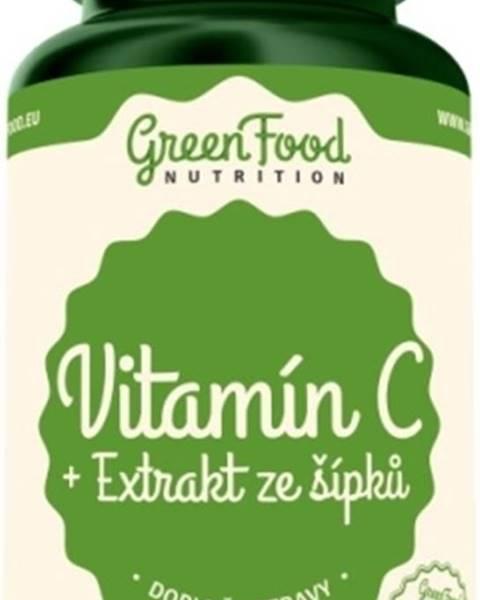 GreenFood GreenFood Vitamín C + Extrakt zo šípok 120 kapsúl