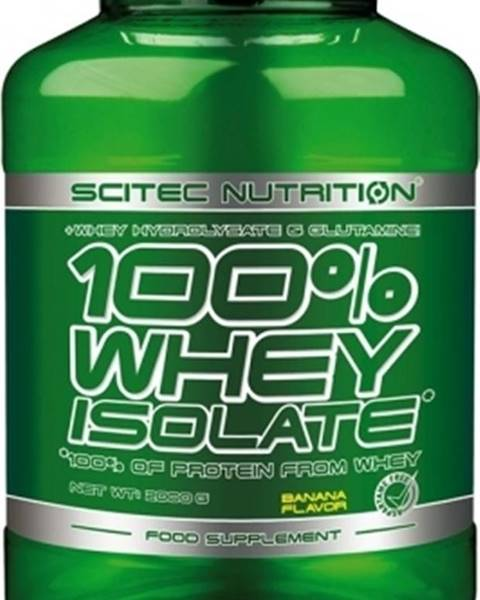 Scitec Nutrition Scitec Nutrition Scitec 100% Whey Isolate 2000 g variant: banán