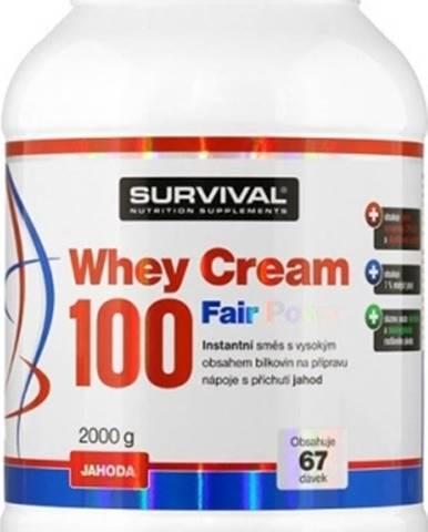 Survival Whey Cream 100 Fair Power 2000 g variant: čokoláda