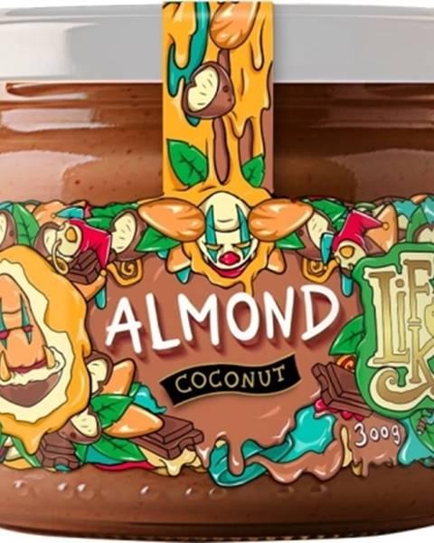 LifeLike Lifelike Mandle s kokosom a 100% čokoládou 300 g