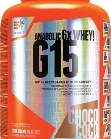 Extrifit G 15 Anabolic Gainer 3000 g variant: čokoláda