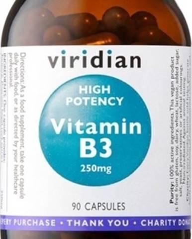 Viridian High Potency Vitamín B3 250 mg 90 kapsúl