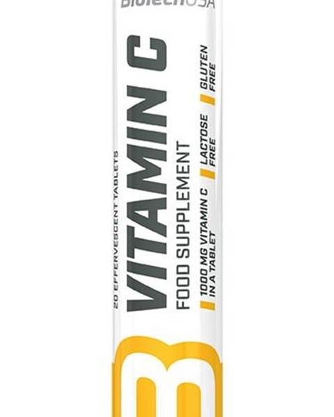 Biotech USA Vitamín C 1000 šumivý - Biotech USA 20 tbl. Lemon