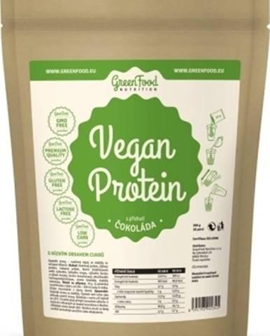 GreenFood Vegan Protein 750 g variant: čokoláda