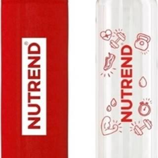 Nutrend Sklenená fľaša s termoobalom 800 ml variant: červená