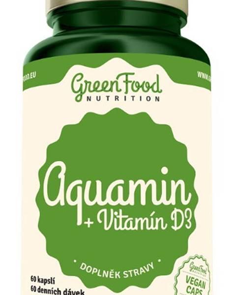 GreenFood GreenFood Aquamin + Vitamín D3 60 kapsúl
