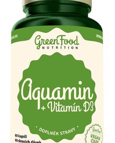 GreenFood Aquamin + Vitamín D3 60 kapsúl