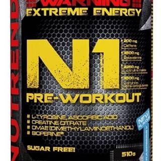 Nutrend N1 Pre-Workout 510 g variant: čierne ríbezle