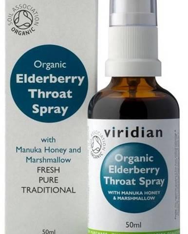 Viridian BIO Elderberry Throat spray Organic 50 ml