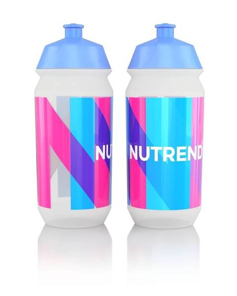 Nutrend Športová fľaša Nutrend Tacx Bidon 2019 500 ml biela s modroružovou potlačou