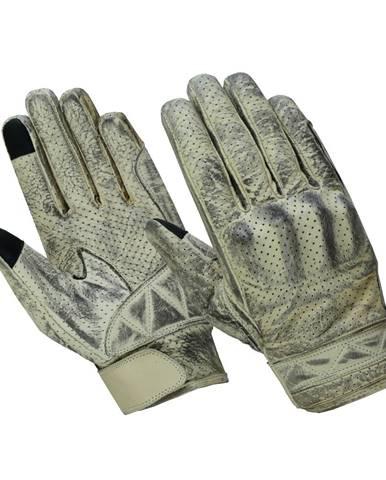 Moto rukavice B-STAR Provint biela - S