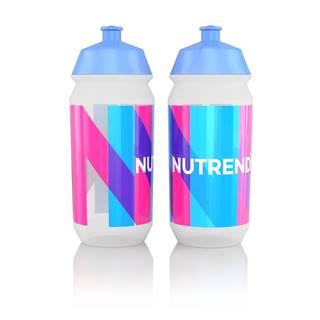 Športová fľaša Nutrend Tacx Bidon 2019 500 ml biela s modroružovou potlačou