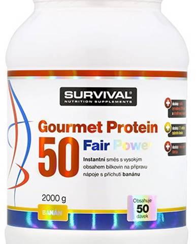 Survival Gourmet Protein 50 Fair Power 2000 g variant: banán