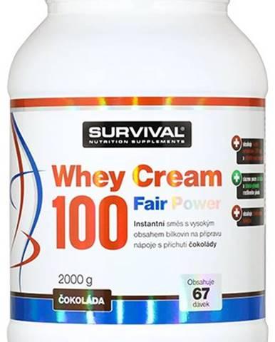 Survival Whey Cream 100 Fair Power 1000 g variant: čokoláda