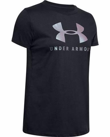 Dámske tričko Under Armour Graphic Sportstyle Classic Crew Black-Chrome - S